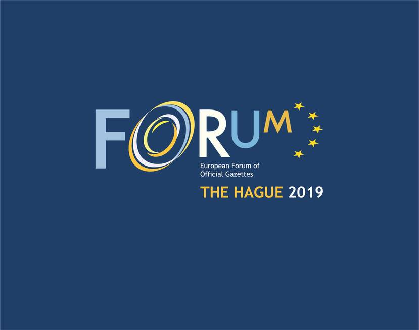 European Forum of Offical Gazettes, The Hague 2019 - logo